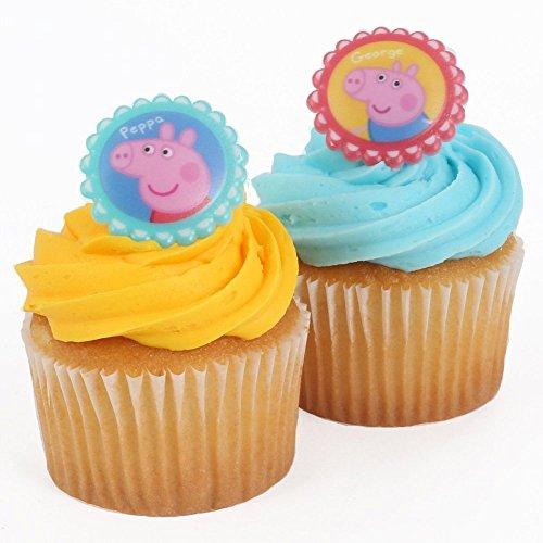 Peppa Pig Cupcake Rings 12pcsset Playset