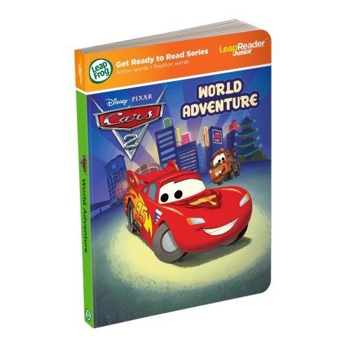 Leapfrog LeapReader Junior Book DisneyPixar Cars 2 World Adventure works with Tag Junior