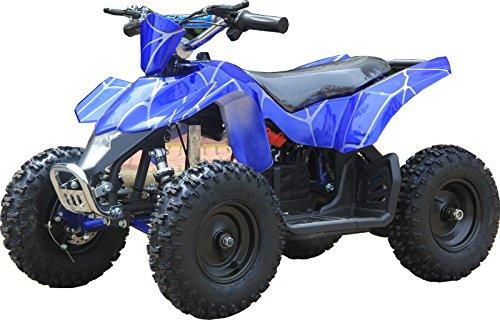 XtremepowerUS Mini Electric Sahara Quad Battery-Powered ATV Blue