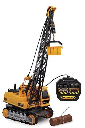 Kid Galaxy Remote Control Crane 8-Function Construction Toy Vehicle