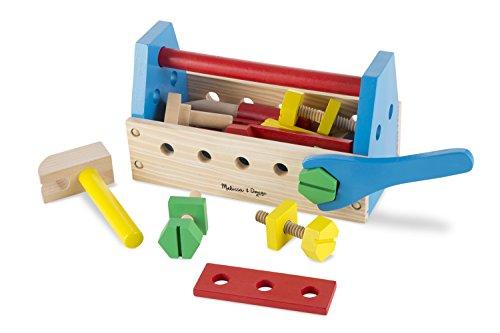 Melissa Doug Take-Along Tool Kit Wooden Construction Toy 24 pcs