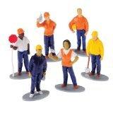 US Toy Construction Worker Toy Figures 1 Dozen