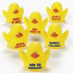 12 Motivational Rubber Ducks