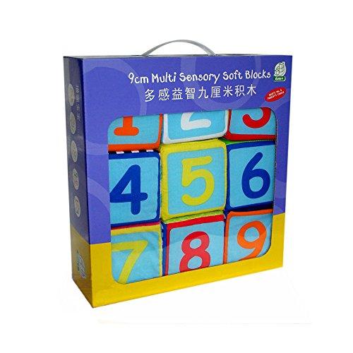 35 Inch 9 Pcs baby blocks Cloth Soft Rattle Building Block Educational Toys