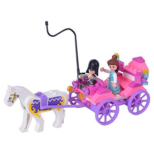 SuSenGo Princess Carriage Model Building Blocks Friends Series Minifigures Girls Toys Gift