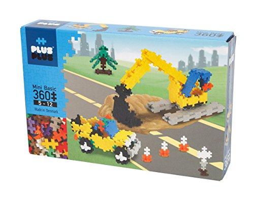 PLUS PLUS - Instructed Play Set - 360 Piece Construction - Construction Building Stem Toy Interlocking Mini Puzzle Blocks for Kids