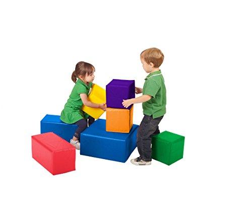 ECR4Kids Patchwork Toddler Blocks - 12 pk