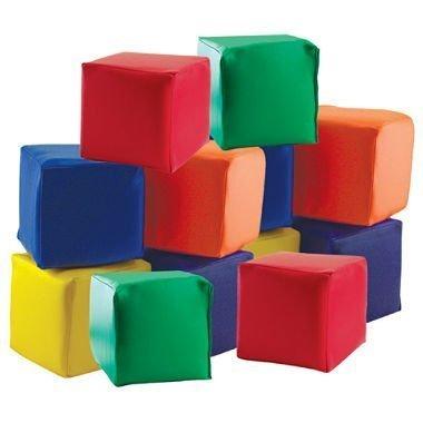 ECR4Kids Patchwork Toddler Blocks - 12 pk by MegaDeal