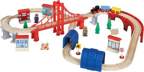 Maxim Enterprise Inc Wooden Train Set 60-Piece