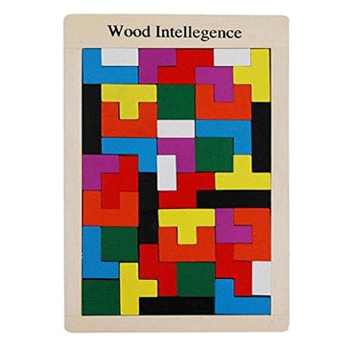 Happy Cherry Wooden Tetris Puzzle Toy