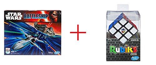 Star Wars Battleship Game and Rubiks Cube Game - Bundle