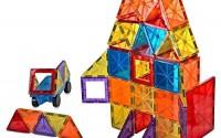 Mag-Genius-Award-Winning-building-Magnet-Tiles-Blocks-Clear-Colors-3D-Brain-Building-Blocks-Set-of-108-15-extra-piece-set-13-clickins-bonus-Includes-2-Cars-And-Free-Storage-Bin-AGE-3-0.jpg