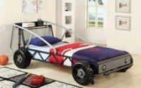 NEW-Metal-Yellow-Black-Red-Silver-Finish-Race-Car-Design-Youth-Twin-Bed-Frame-Shelf-Silver-Black-finish-16.jpg